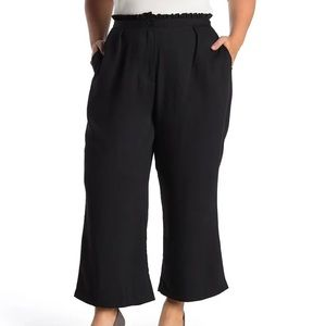 City Chic Frilled Waist Pant Wide Leg Cropped